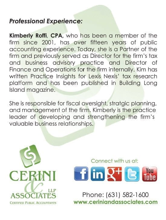 Cerini & Associates, LLP Appoints Kimberly Roffi to Partner