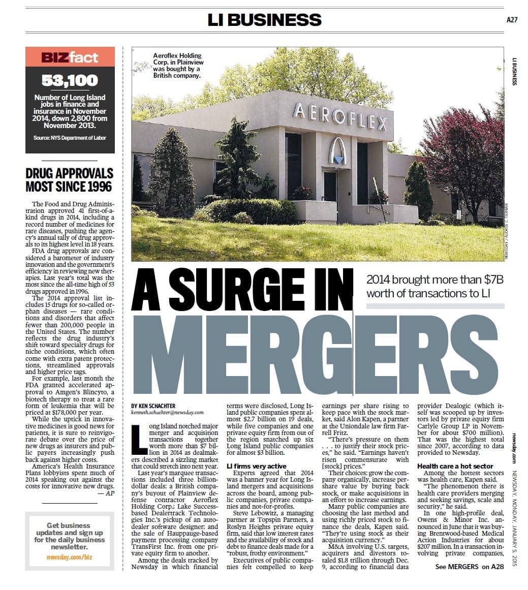 A Surge In Mergers