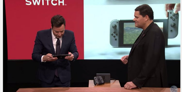 Jimmy Fallon playing the Nintendo Switch