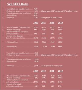 SEIT Reimbursement Rates