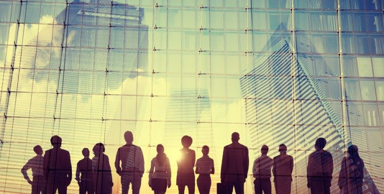 Multiple Business People Silhouettes