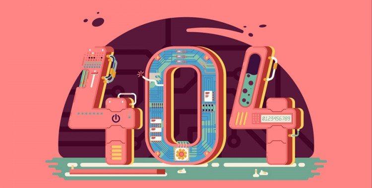Colorful 404 Error Message