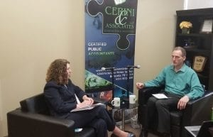 Ken Cerini with Melissa Greenberger of Pro Bono Partnership during Cerini Nonprofit Connection