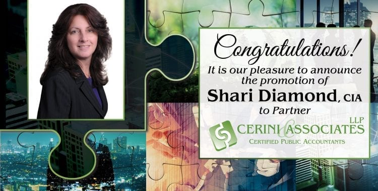 Shari Diamond promoted to Partner