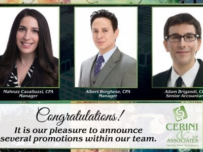 Promotions at Cerini and Associates