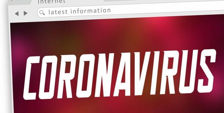 Coronavirus Website Internet Screen Information Update COVID-19